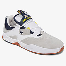 Кеды высокие DC Shoes Kalis Shoe White/Grey/Yellow