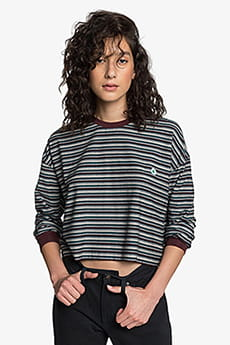 Лонгслив женский QUIKSILVER Stripes Decadent Choco