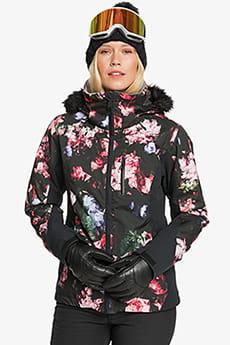 Куртка сноубордическая женский Roxy Jet Ski Premium True Black Blooming