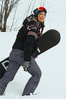Комбинезон сноубордический женский Roxy Pop Snow True Black Pop Anima