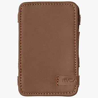 Кошелек Rvca Leather Magic Wallet Tan