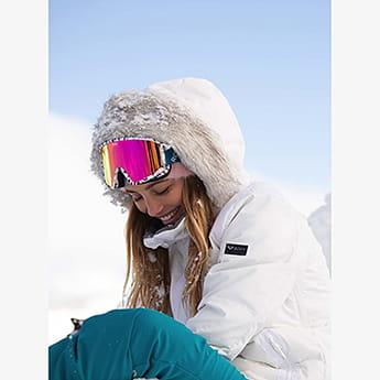 Маска для сноуборда женская Roxy Feenity Bright White