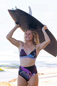 Бюстгальтер женский Roxy Pop Surf Tri True Black Pop Flowe