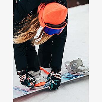 Варежки сноубордические женские Roxy Jetty Se Mitt True Black Tropical