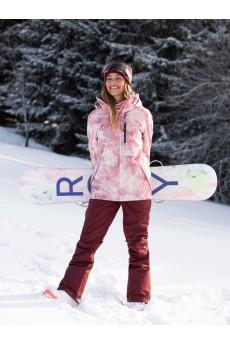 Куртка сноубордическая женский Roxy Presence Silver Pink Tie Dye