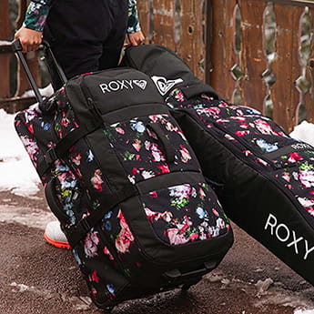 Сумка дорожная Roxy Long Haul Bag Black Blooming