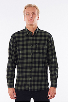 Рубашка Rip Curl Check This Dark Olive