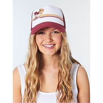 Кепка женская Rip Curl Golden Days Palm Maroon