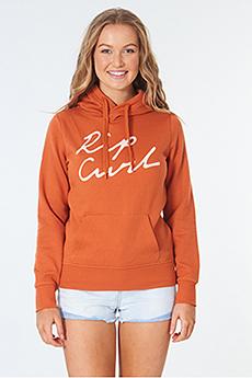 Толстовка женская Rip Curl Logo Fleece Sun Rust