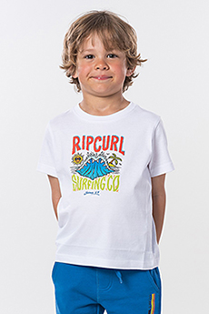 Футболка детская RIPCURL Jaws Ss Tee Groms Optical White