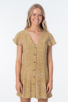 Платье женское RIPCURL Paradise Cove Spot Dress Gold
