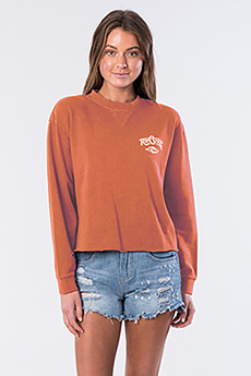 Свитшот женский RIPCURL Core Heritage Crew Burnt Orange