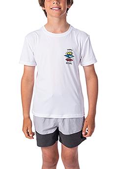 Гидрофутболка детская RIPCURL Boys Search Logo White