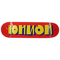 Дека для скейтборда Юнион Team1 Red Yellow 8.5 x 32.5 (21.6 см)