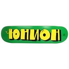 Дека для скейтборда Юнион Team1 Green Yellow 32.125 x 8.3 (21.1 см)