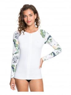 Женский рашгард с длинным рукавом и молнией на груди ROXY Bloom UPF 50