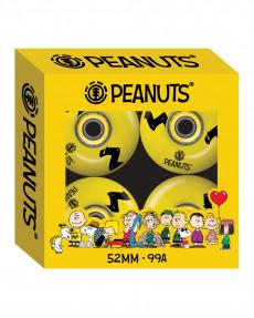 Набор из 4 колес для скейтборда Peanuts Charlie Brown Stripe 52 mm