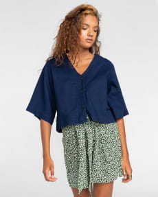 Женская рубашка с короткими рукавами Salto Indigo