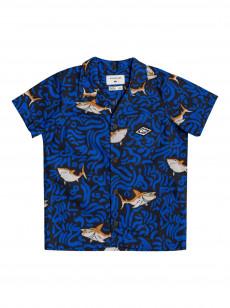 Детская рубашка с коротким рукавом Sharky Troubles 2-7