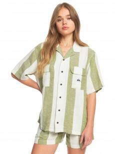 Женская льняная рубашка с коротким рукавом Destination Trip
