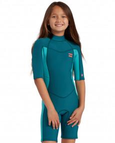 Детский гидрокостюм с короткими рукавами и молнией на спине Synergy ( 2/2 мм)