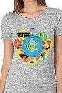 Футболка женская Wearcraft Premium Mail.ru Smile Серый Меланж