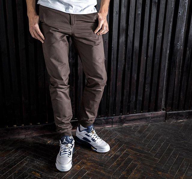 Штаны прямые TrueSpin Classic Chino Joggers Grey