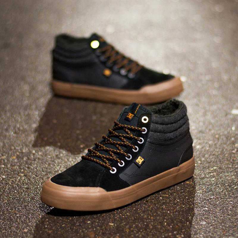 Кеды зимние DC Evan Hi Wnt Black/Black/Gum