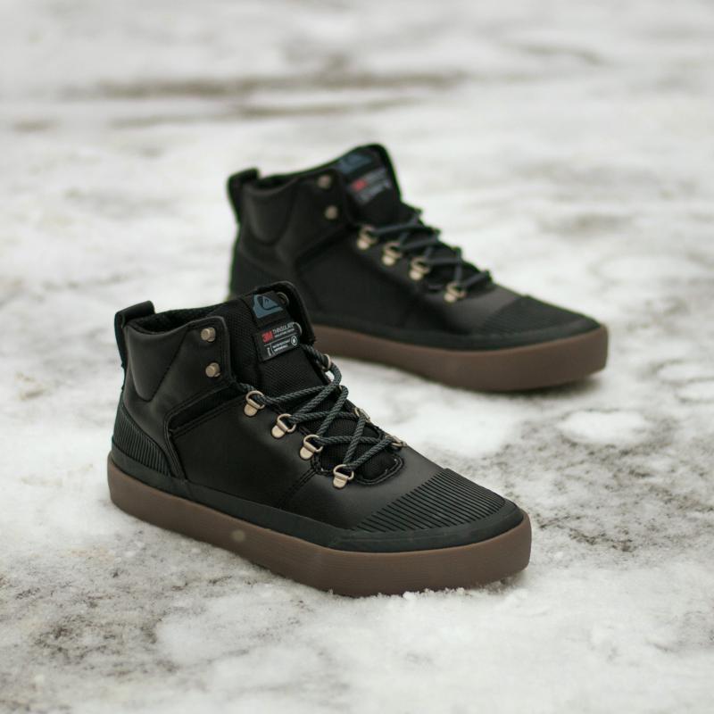 Кеды зимние QUIKSILVER Grebe Black/Grey/Brown