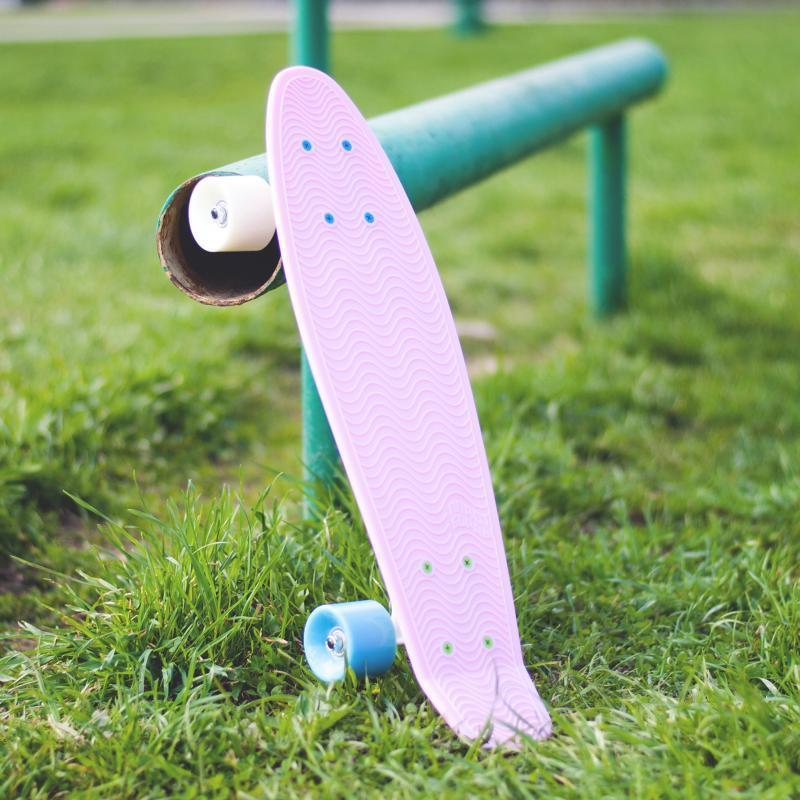 Скейт мини круизер Пластборд Barberry Pink 6 x 22.5 (57 см)