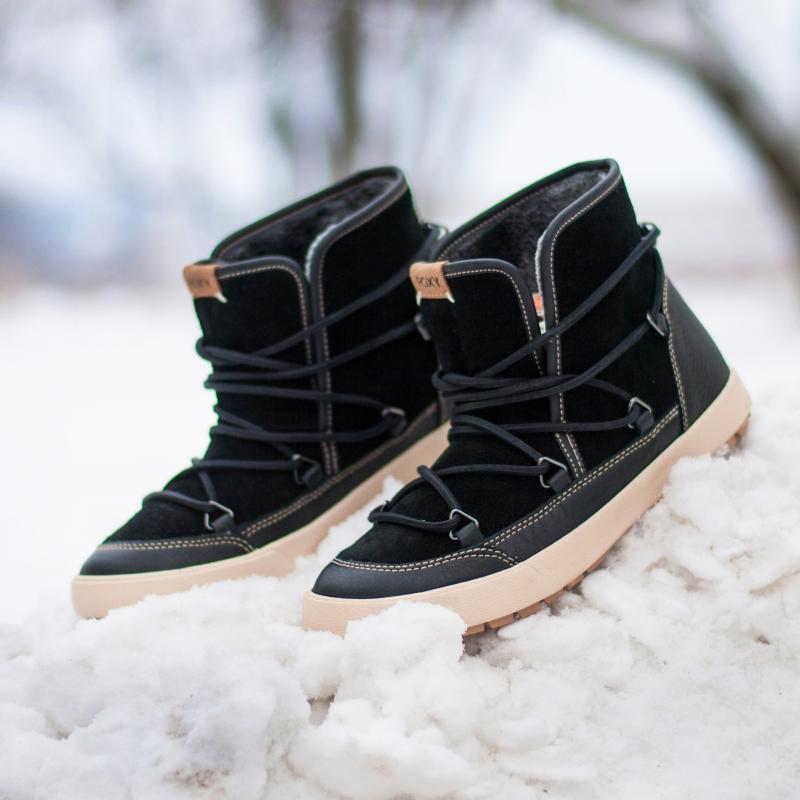 e0aff2251158 Купить ботинки зимние женские Roxy Darwin Boot Black (ARJB300017-BL0 ...