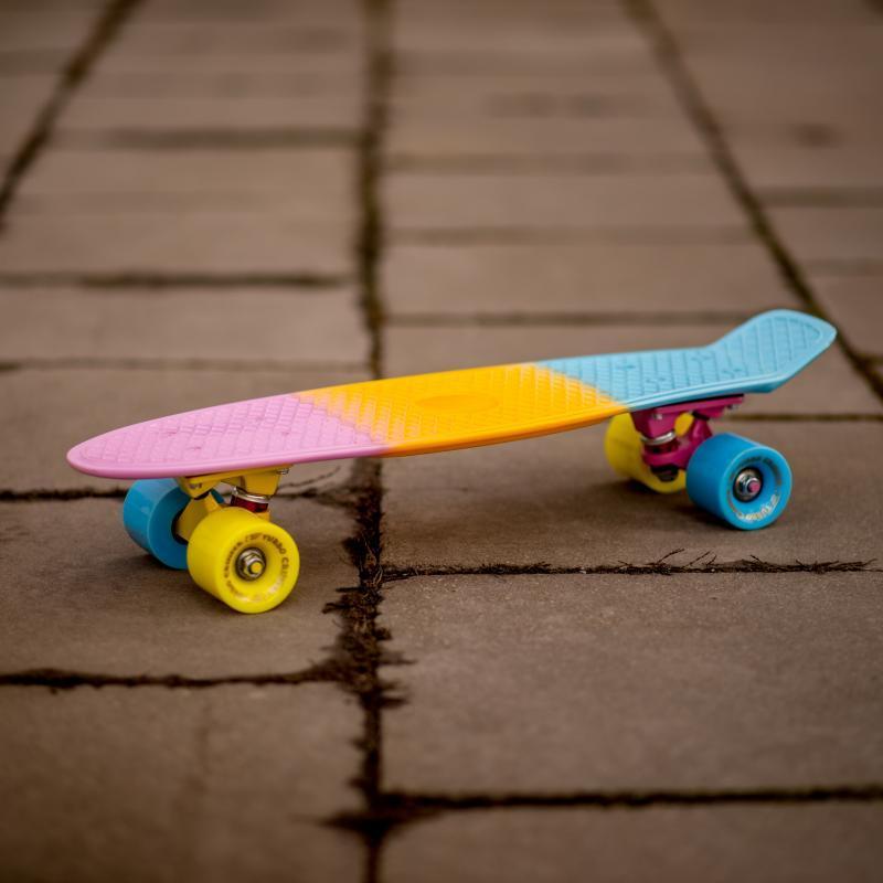 Скейт мини круизер Turbo-FB LikeaP Pink/Yellow/Blue 22 (55.9 см)