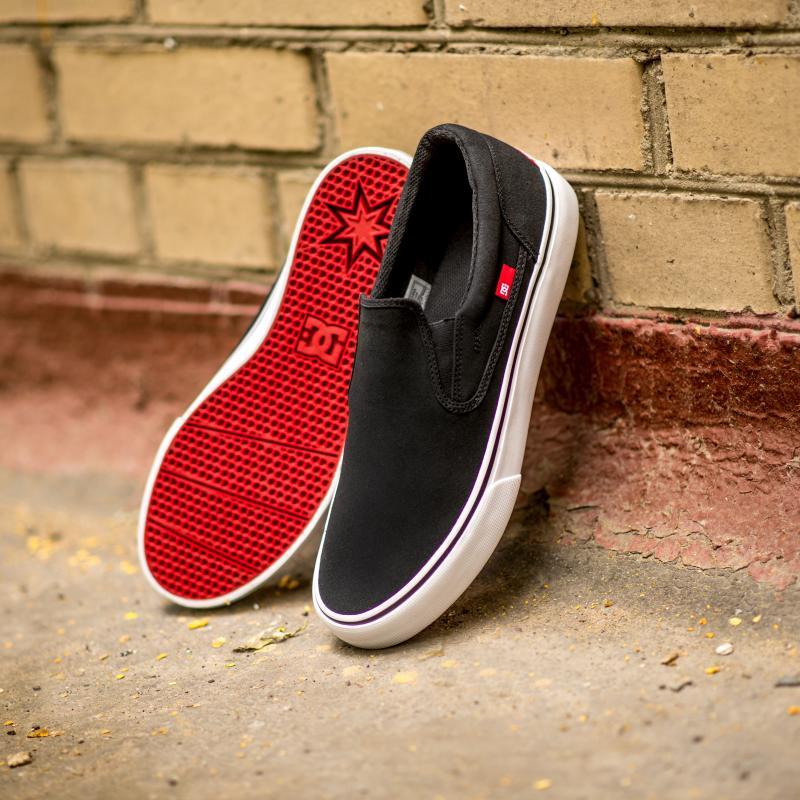 Слипоны DC Trase Slip-On TX Shoe Black/White