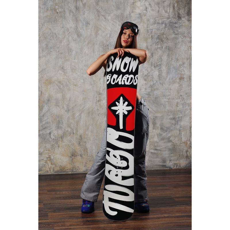 Сноуборд Turbo-FB Turbo Snowboards Logo 2 Black/Red/White (16-17)