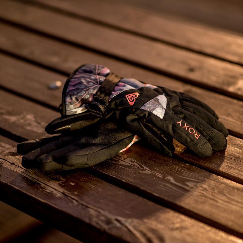 Перчатки сноубордические женские Roxy Jetty Gloves Hawaiian Tropik Para