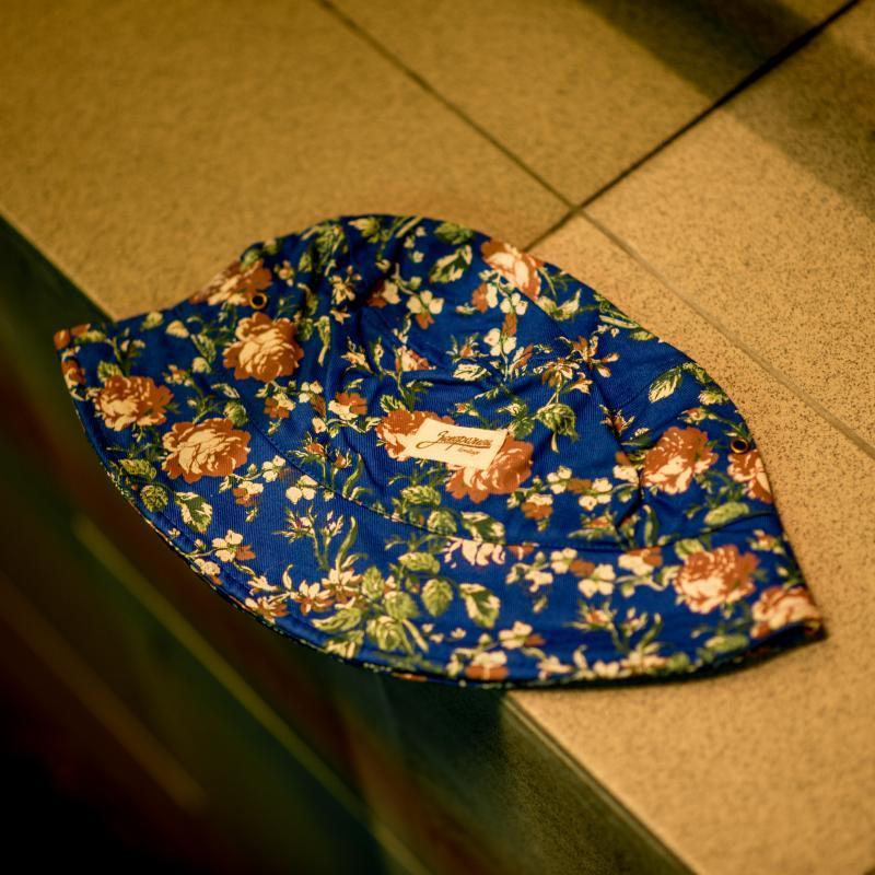 Панама Запорожец Цветочки Royal Blue
