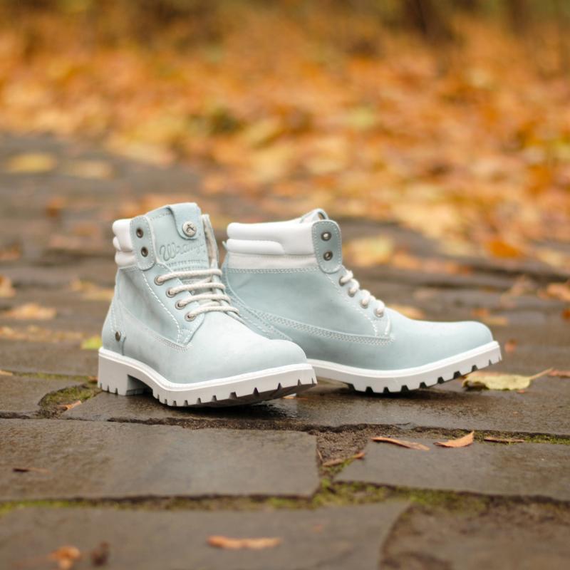 Ботинки зимние женские Wrangler Creek Fur Light Blue