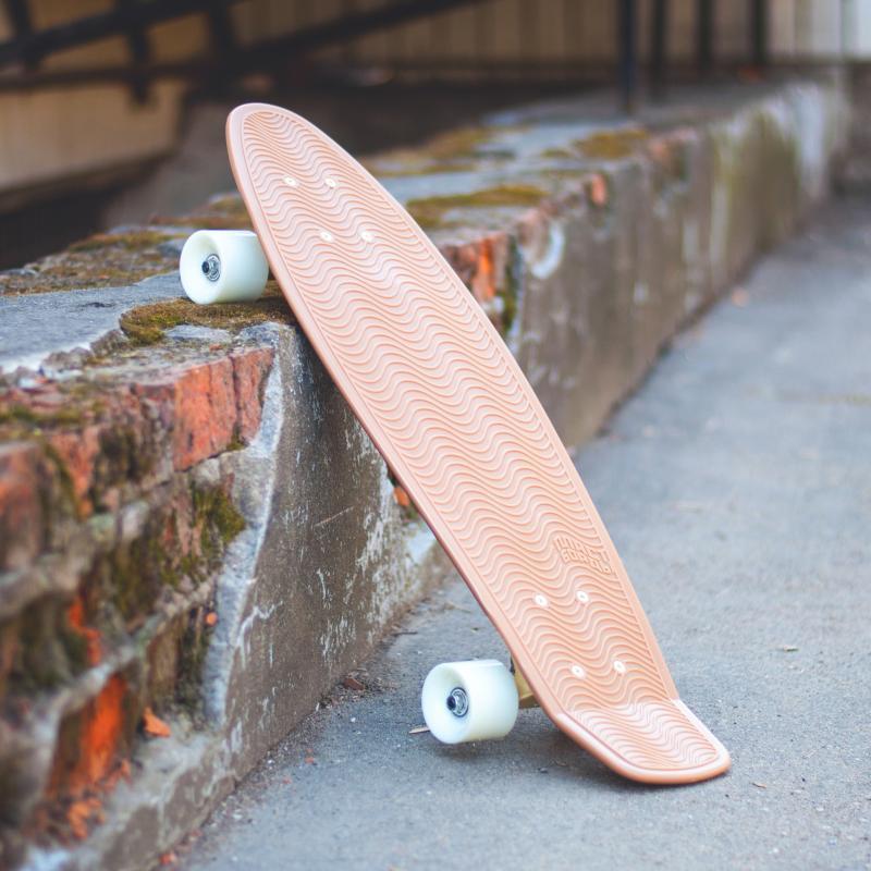 Скейт мини круизер Пластборд Cappuccino Brown 7.25 x 27 (68.5 см)