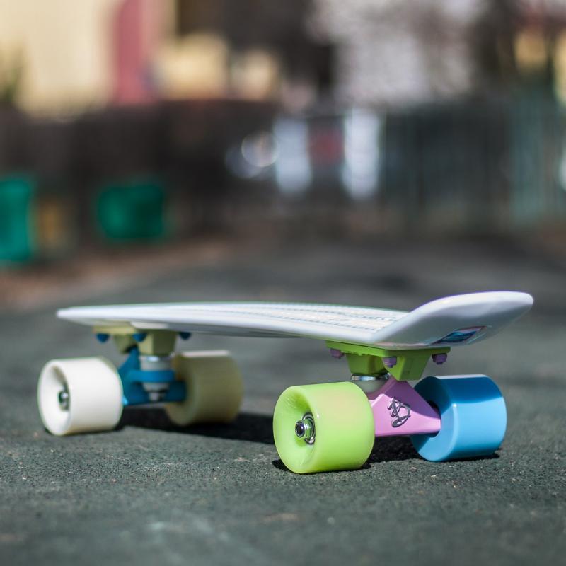 Скейт мини круизер Пластборд Dragee White 6 x 22.5 (57 см)