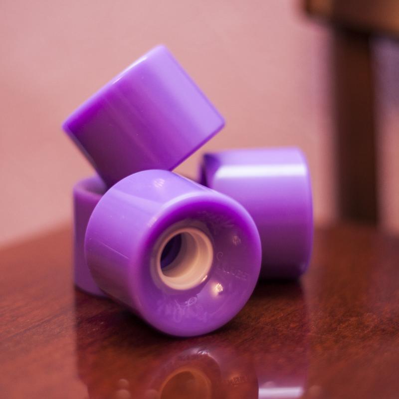 Колеса для лонгборда Вираж Purple 83A 59 mm