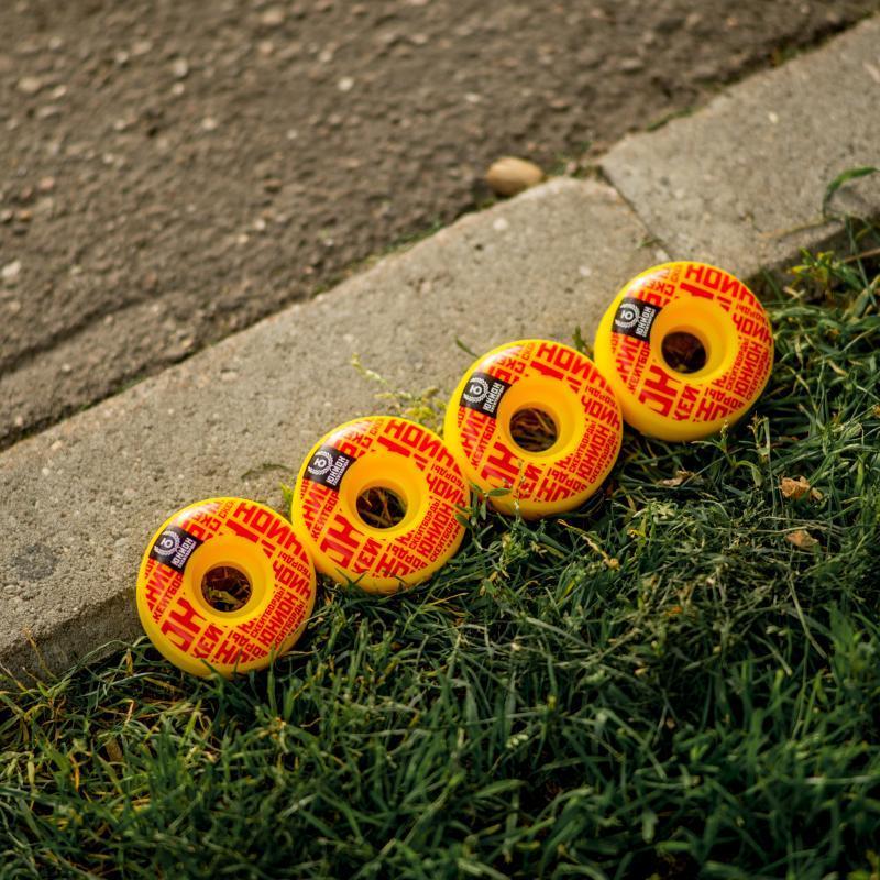 Колеса для скейтборда Юнион Mosaic Ф2 Yellow/Red 100A 51 mm