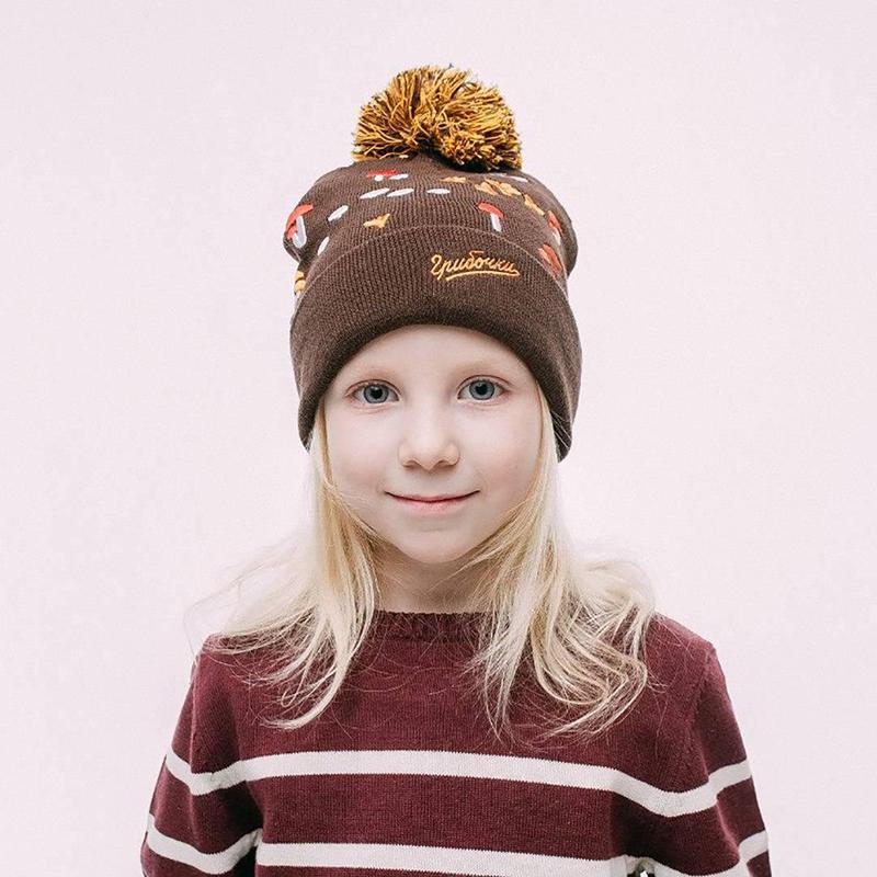 Шапка детская Запорожец Gribochki Kids Brown