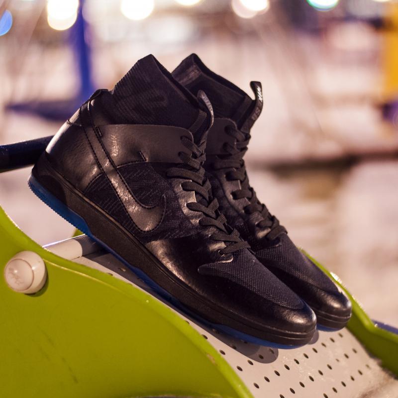 Кеды высокие Nike Sb Zoom Dunk High Elite Black