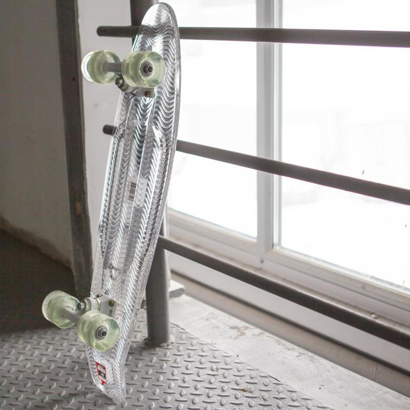 Скейт мини круизер Пластборд Powder Clear 7.25 x 27 (68.5 см)