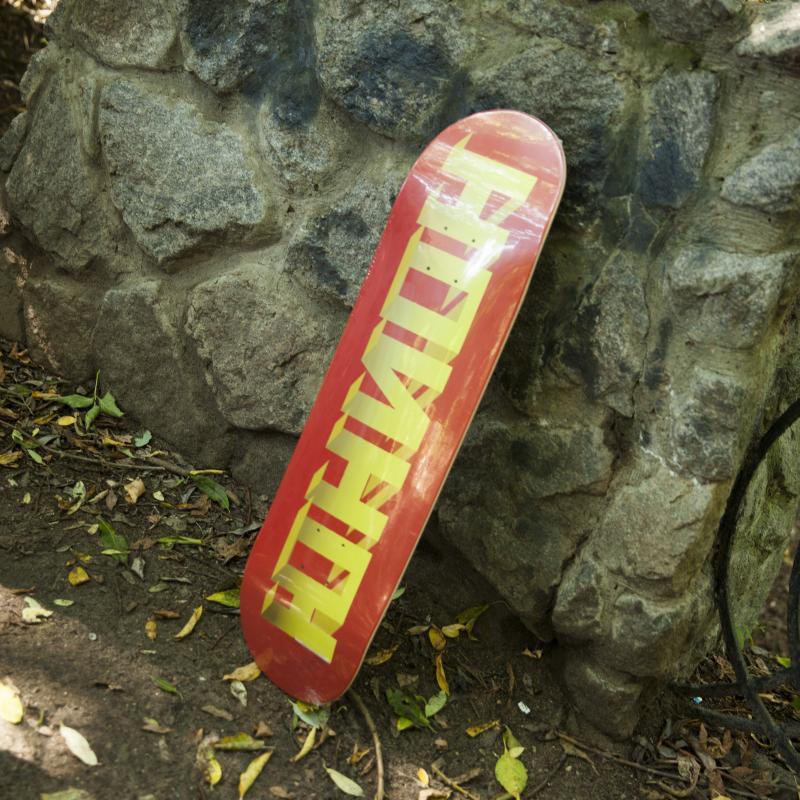 Дека для скейтборда Юнион Discocube Red/Yellow 32 x 8.375 (21.3 см)